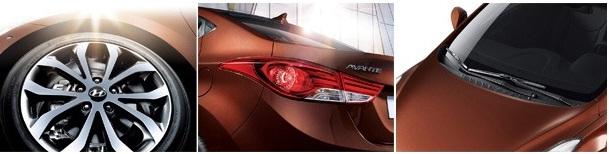 2013 Hyundai Elantra tail lamps