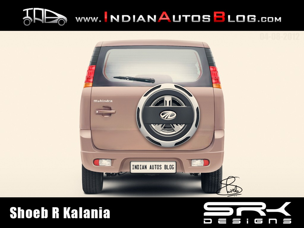 Mahindra mini Xylo rear rendering