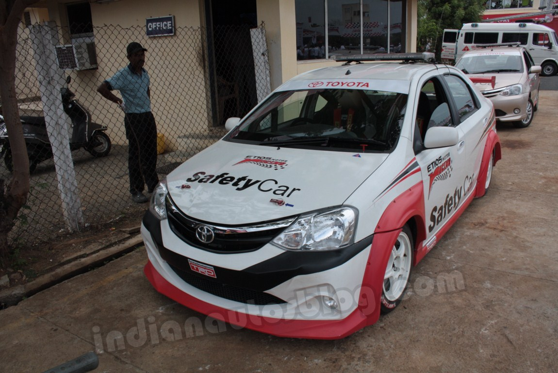 Toyota Etios Motor Racing safety car front