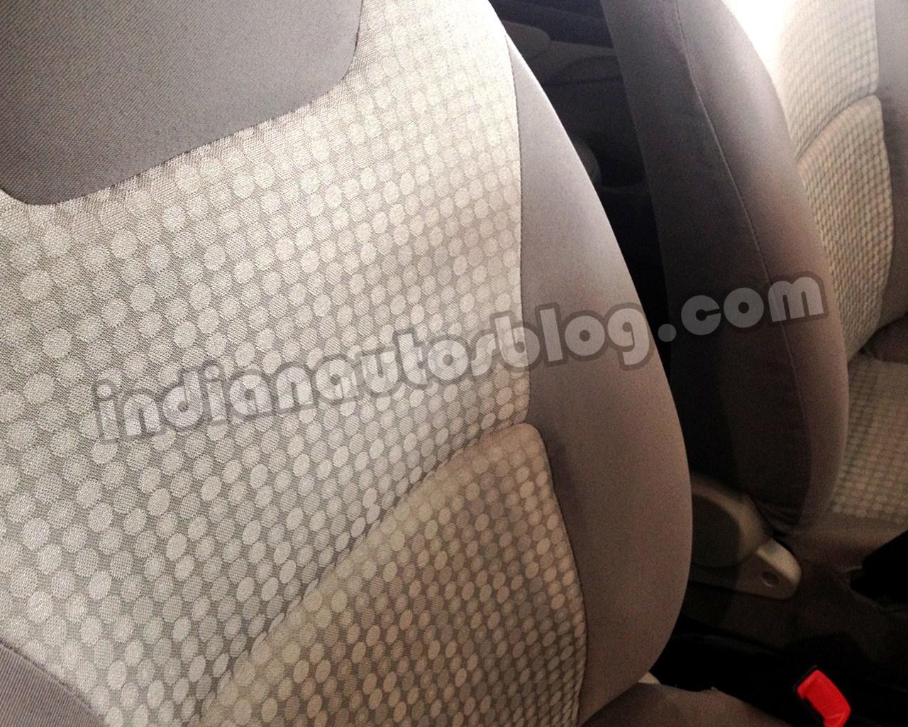 Toyota Etios beige front seat