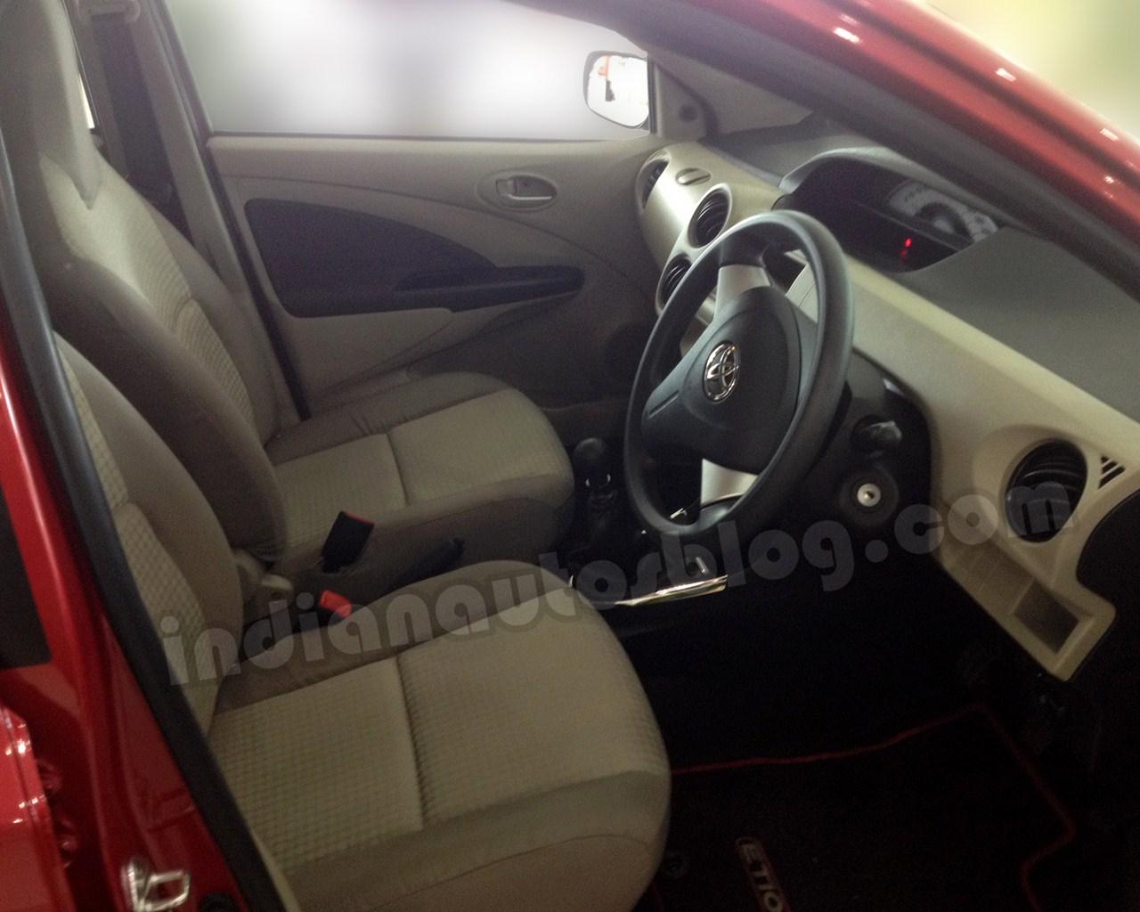 Toyota Etios Liva beige interior cabin