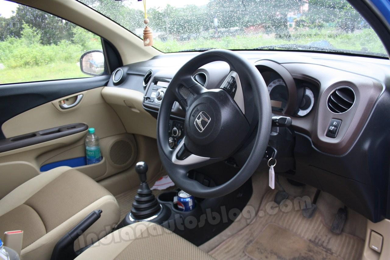Honda Brio driver side cabin