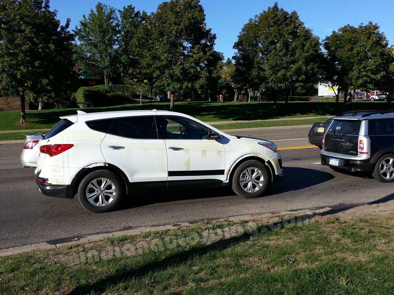 2013 Hyundai Santa Fe test mule spotted in Ann Arbor, Michigan