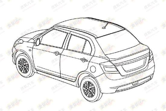 Suzuki Swift Dzire Patent Leaks China