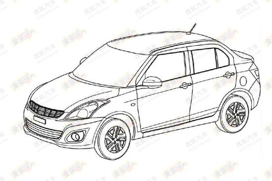 Suzuki Swift Dzire Patent Leaks China