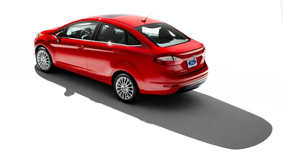 2013 Ford Fiesta sedan facelift rear three quarters