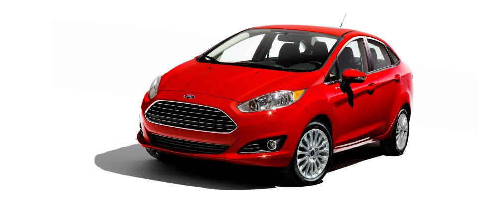 2013 Ford Fiesta sedan facelift front three quarters