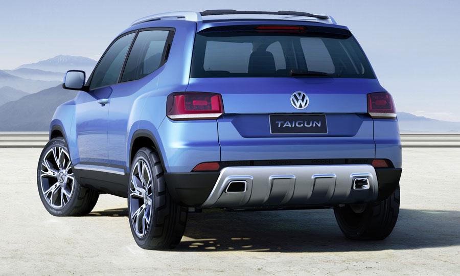VW Taigun rear three quarters