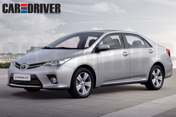 2014 Toyota Corolla front three quarter rendering