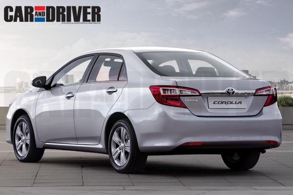 2014 Toyota Corolla rear three quarter rendering