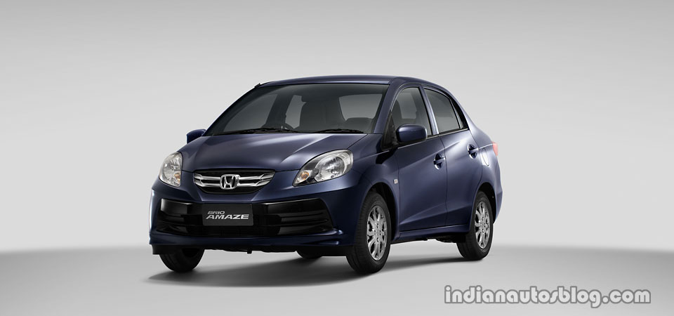Honda Brio Amaze front three quarter view