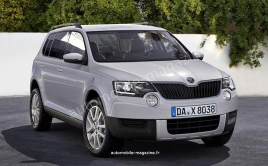 Skoda Polar SUV rendering