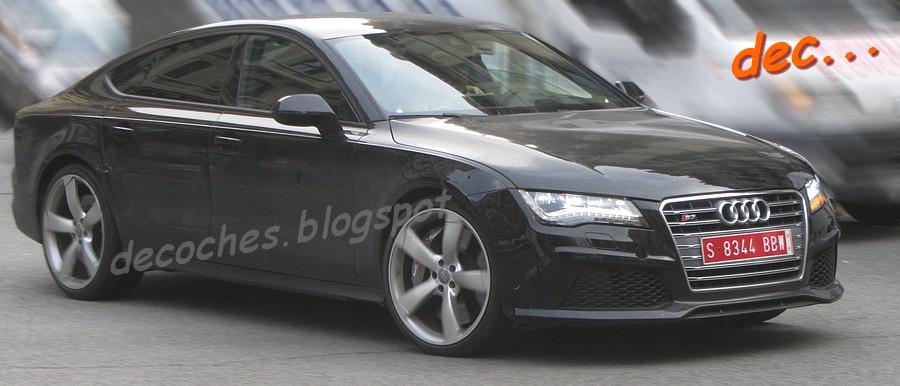 Audi RS7 spied front quarter