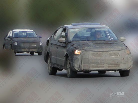 Skoda Rapid for China front end test mule