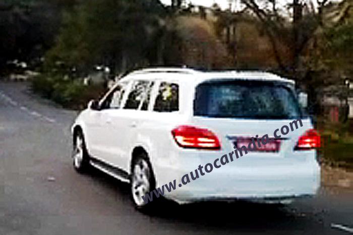 Mercedes GL Class 2013 spied in India
