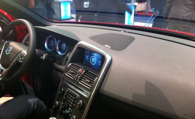 Volvo off touch screen retrofit infotainment system