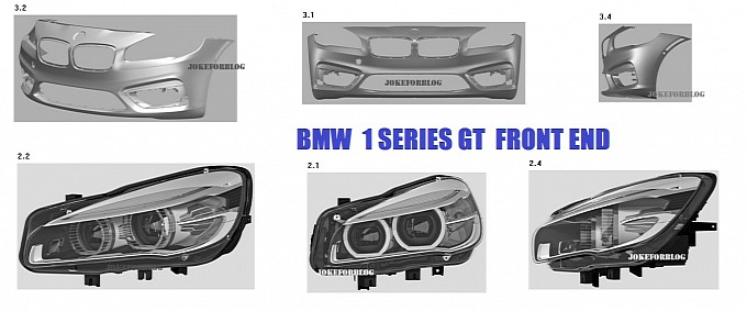 BMW 1 series GT leaked front CAD drawings