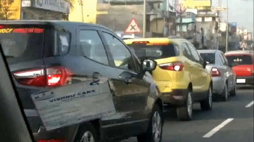 Ford EcoSport caught testing in Chennai again
