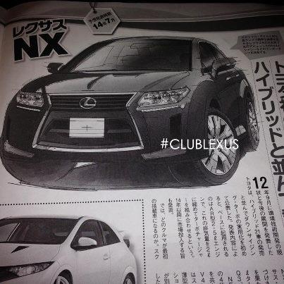 Lexus NX rendering