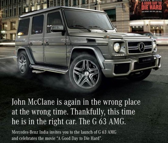 Mercedes G63 launch invite clipping