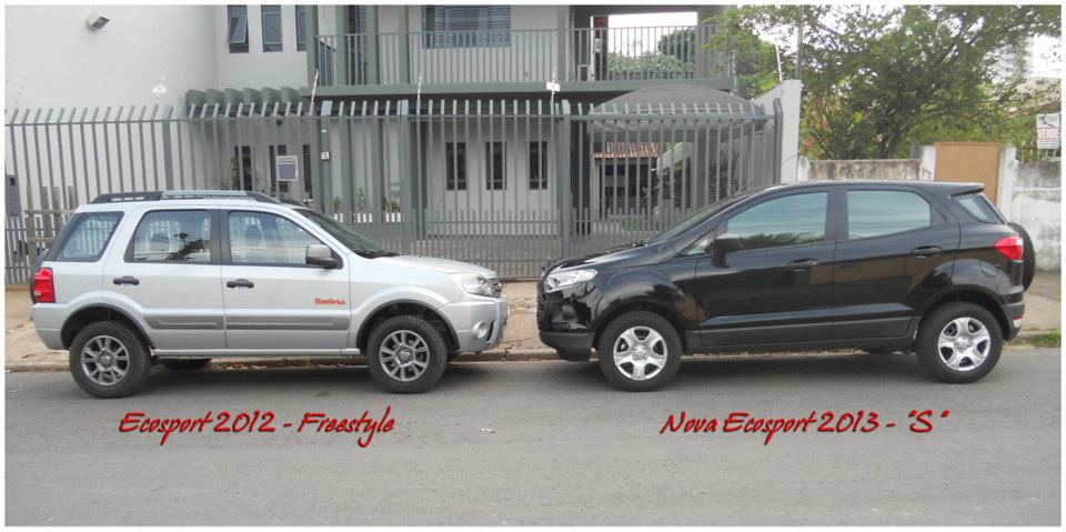 Old Ford EcoSport vs New Ford EcoSport side view