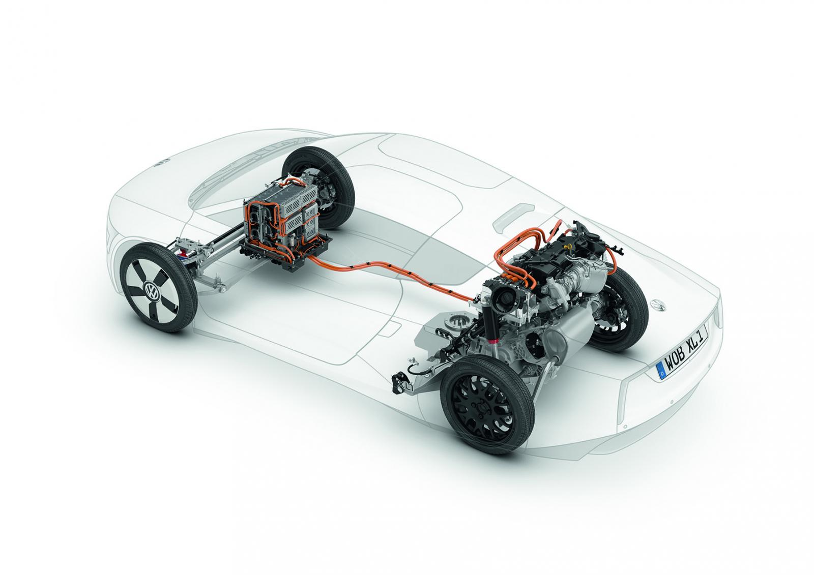 VW XL1 under the skin