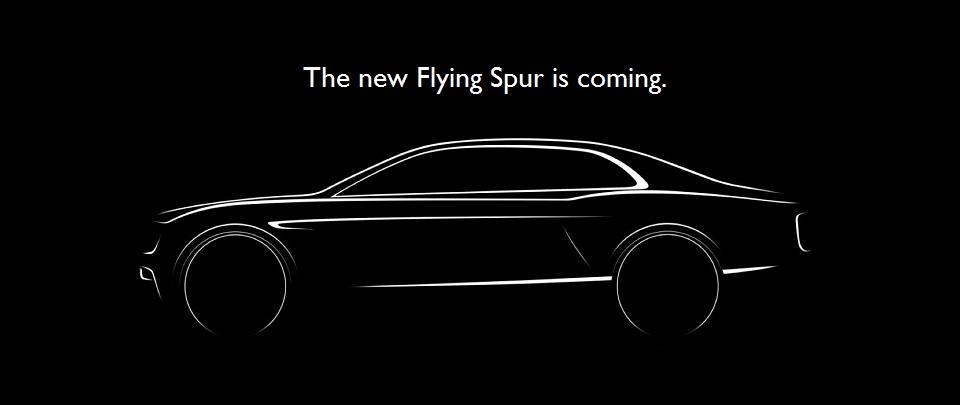 new Bentley flyingspur teaser