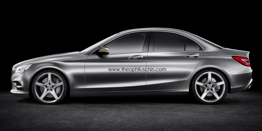 2015 Mercedes C Class side render