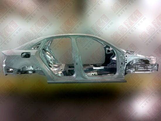 Audi A3 sedan body shell side view