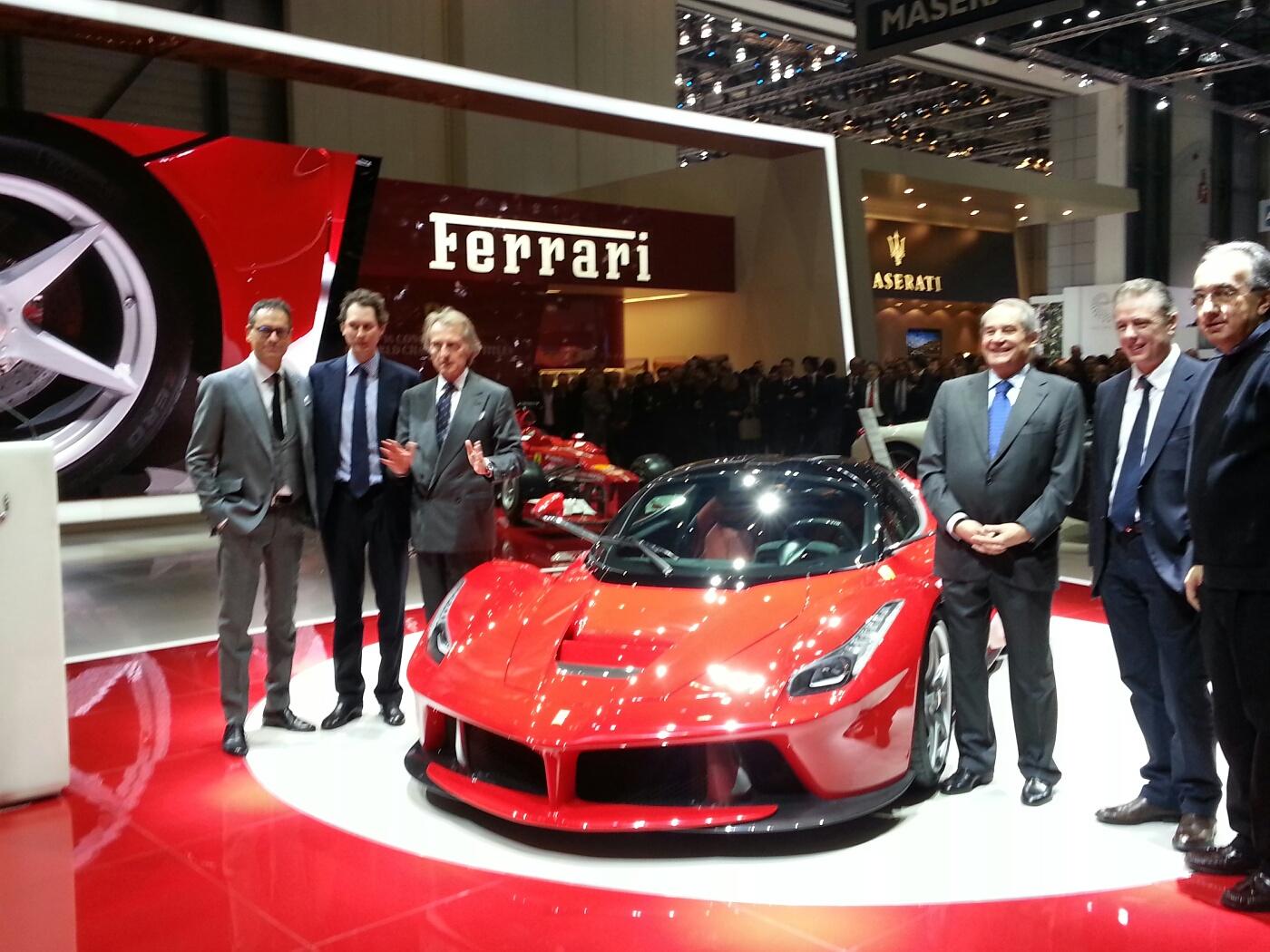 La Ferrari Geneva Motor Show Live Front ...