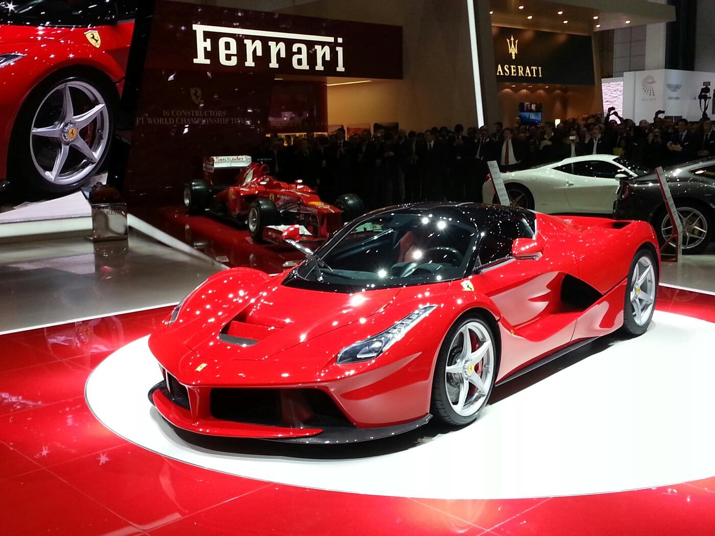 La Ferrari Geneva Motor Show Live Front Quarter Closeup U0027