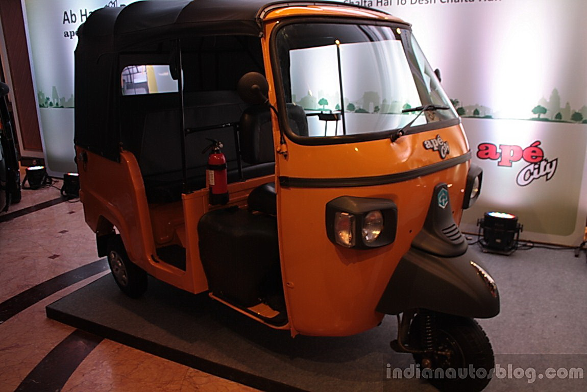 Piaggio Ape City Three Wheelers Launched In Petrol Cng Lpg