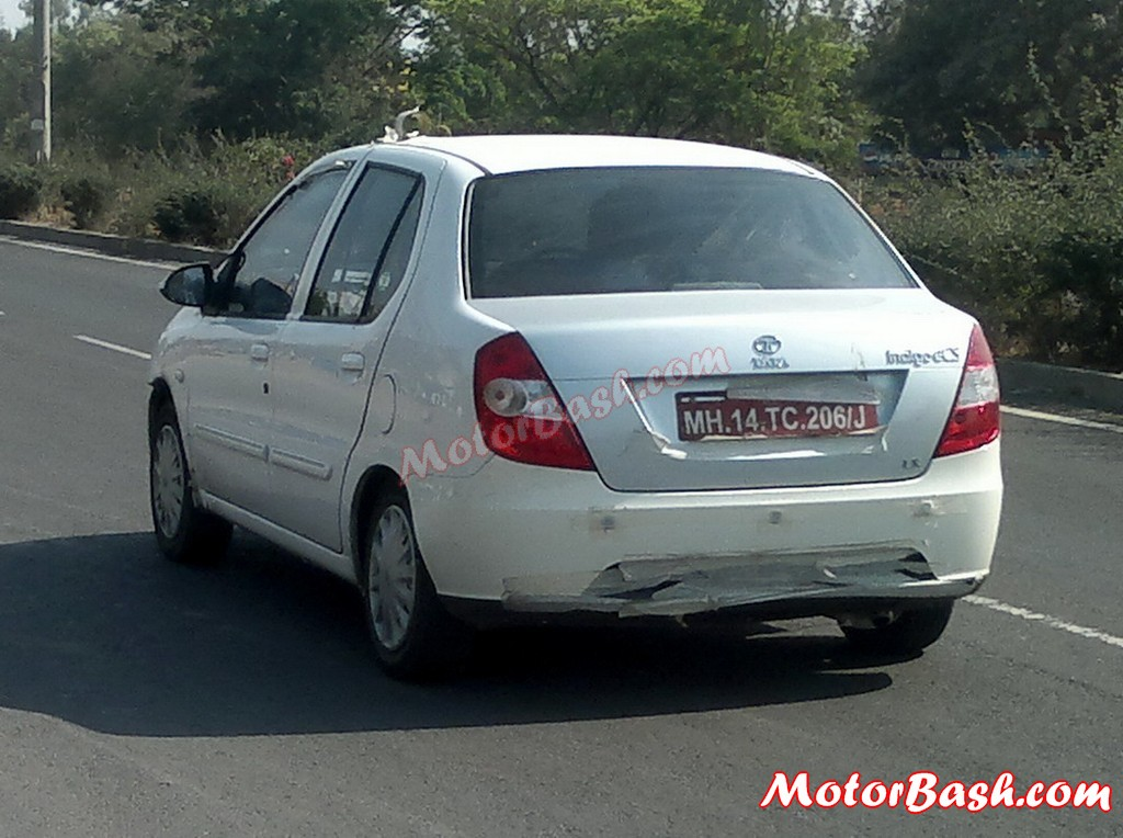 Tata Indigo e-cS Facelift rear spied