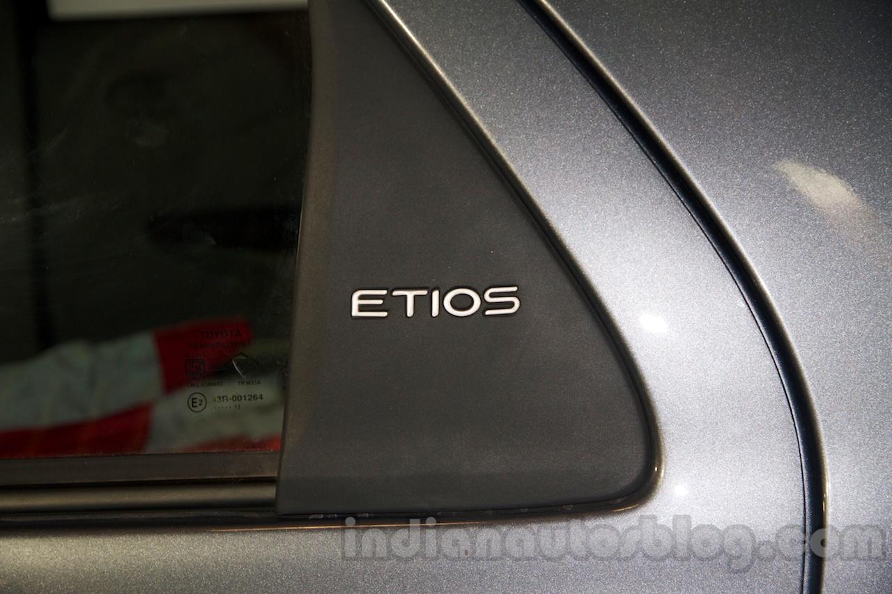 Toyota Etios Facelift quarter glass nameplate