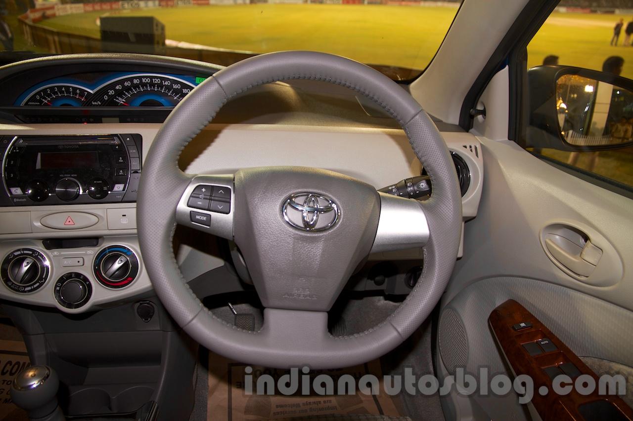 Toyota Etios Liva Facelift steering wheel