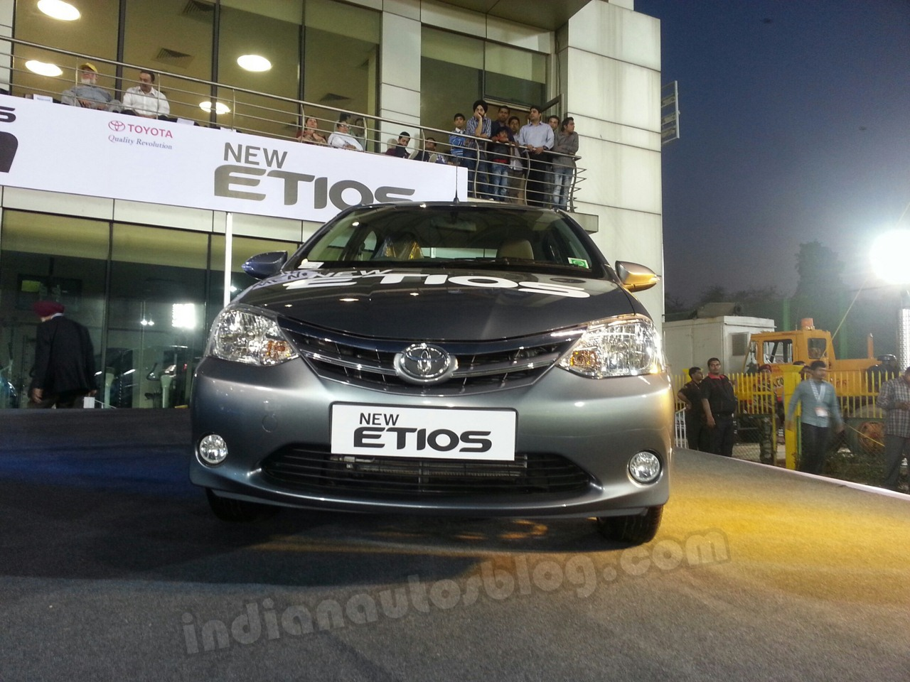 Toyota Etios facelift live images front view