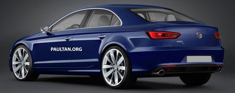 VW Golf cc rear quarter rendering