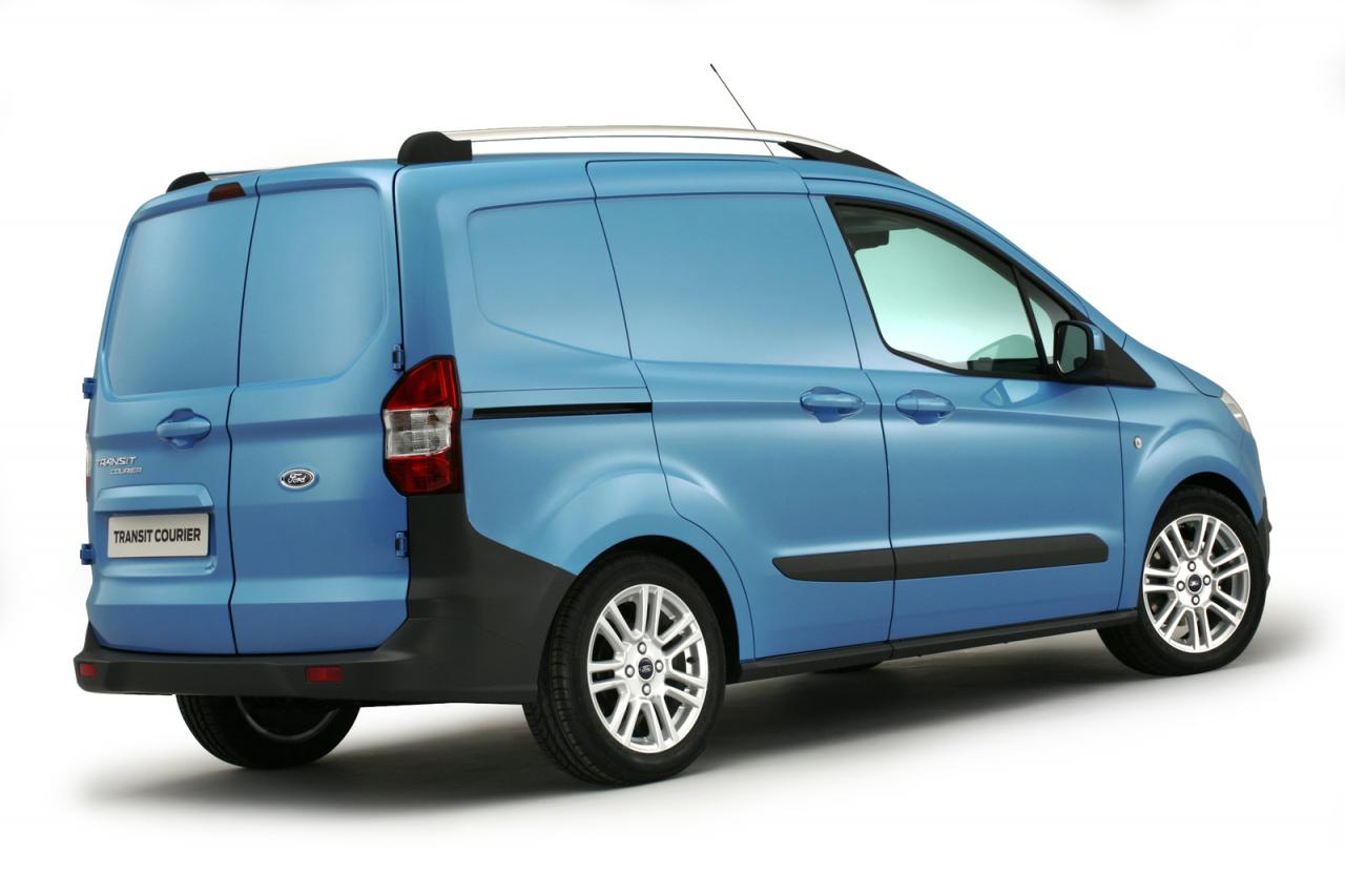 all new ford transit courier revealed in birmingham. Black Bedroom Furniture Sets. Home Design Ideas