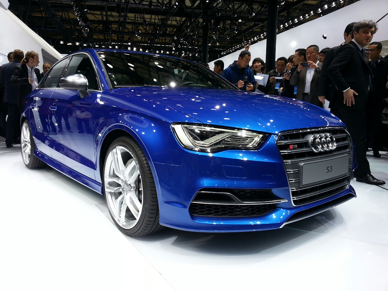 Audi S3 sedan Auto Shanghai live 2013 front quarter right