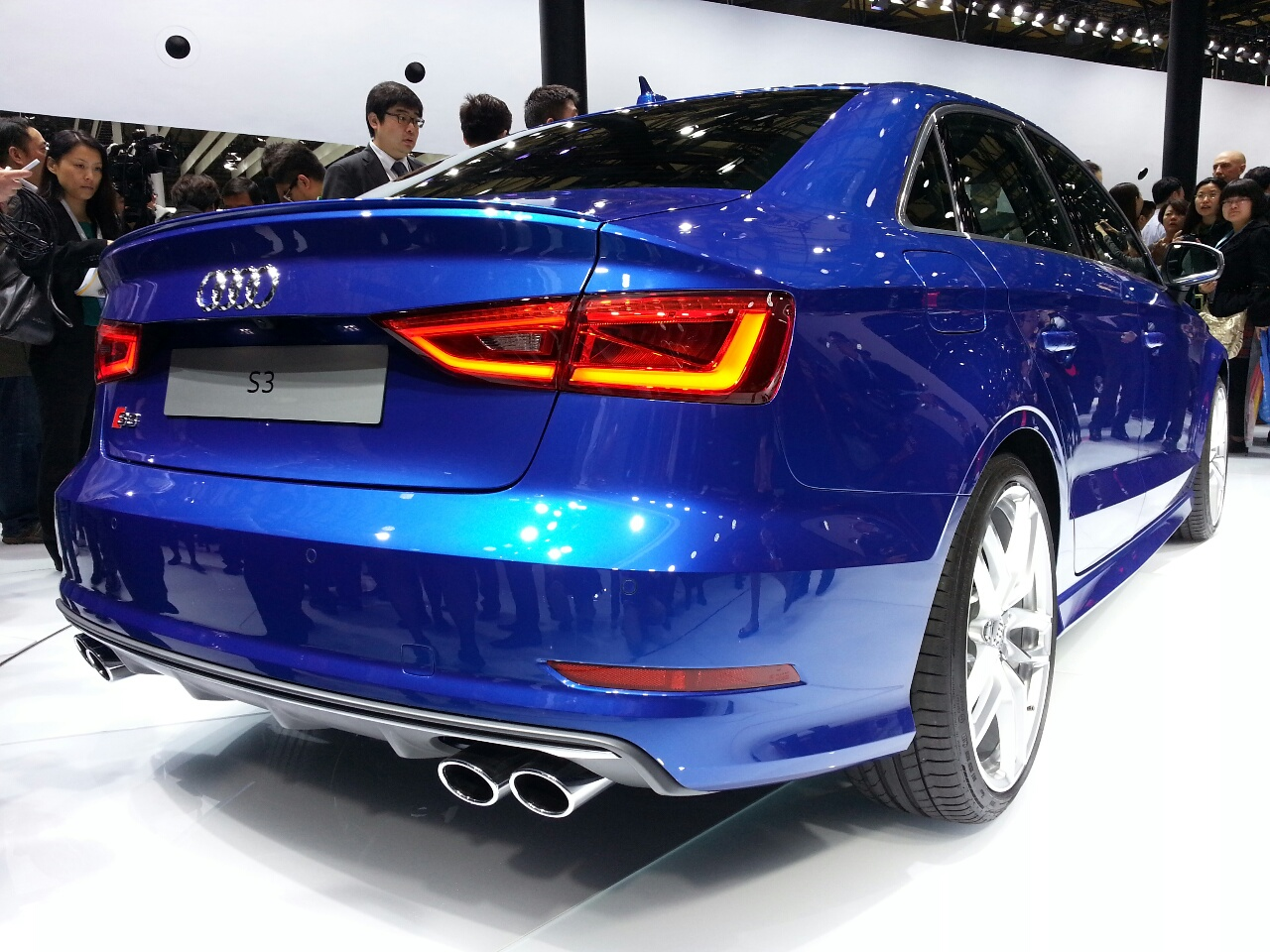 audi 39 s hot s3 sedan breaks cover at auto shanghai 2013. Black Bedroom Furniture Sets. Home Design Ideas