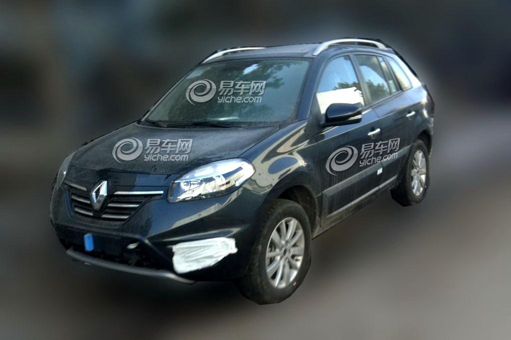 2014 Renault Koleos facelift front spied