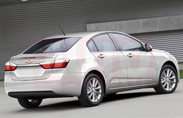 2015 Chevrolet Cruze render rear