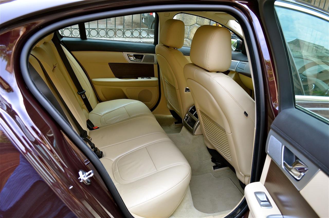 Jaguar XF rear seat