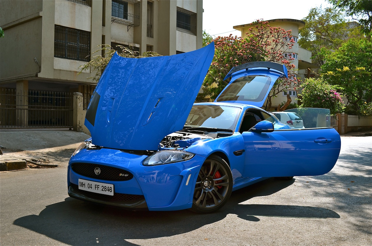Jaguar XKR-S with all doors open