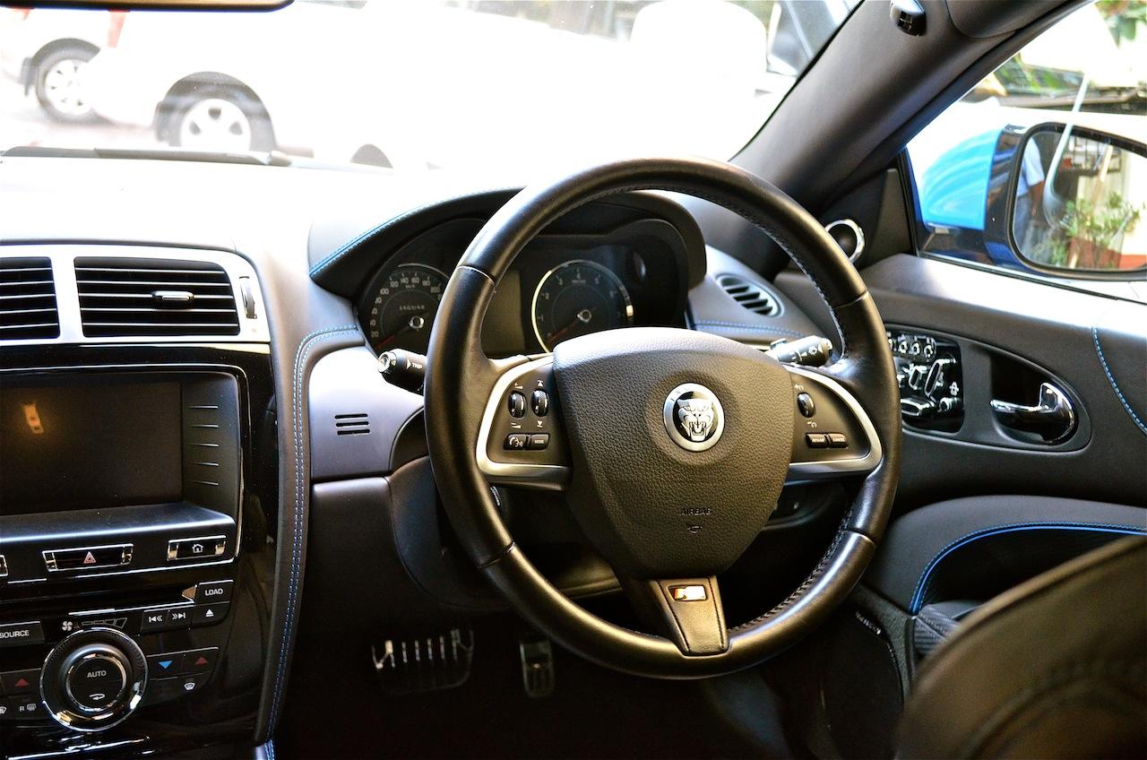 Jaguar XKR-S driver steering wheel