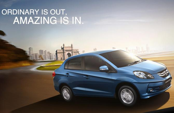 Honda amaze website tagline