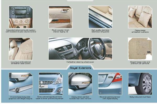 Maruti Suzuki DZire Regal accessory list