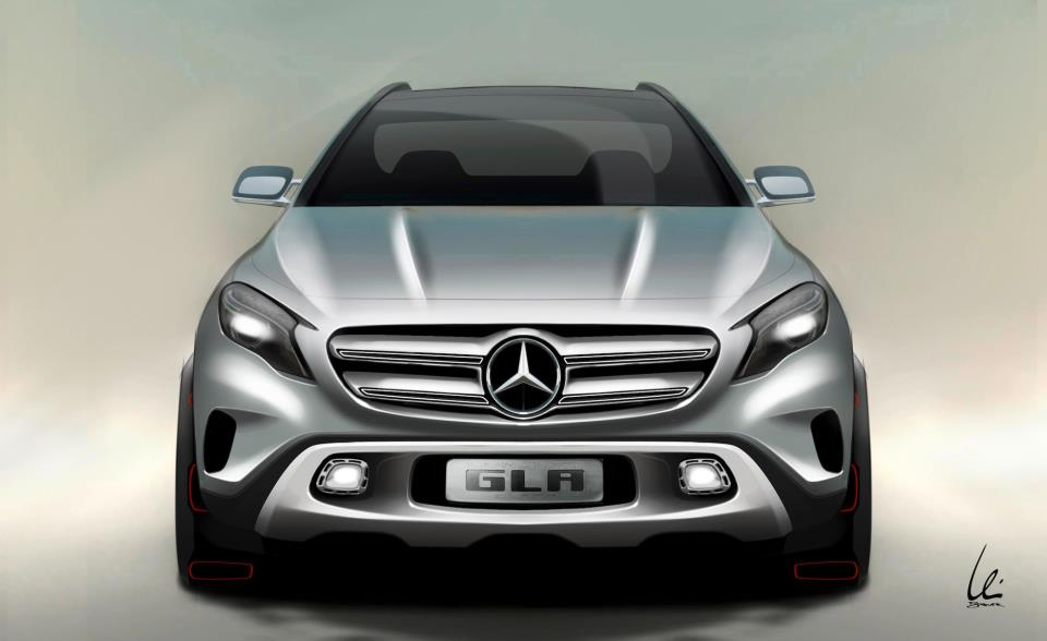 Mercedes GLA concept front sketch