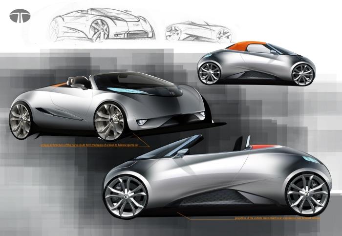 Tata Nano Speedster rendering side