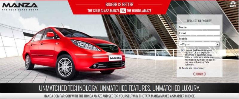 Tata manza vs Honda amaze comparison1